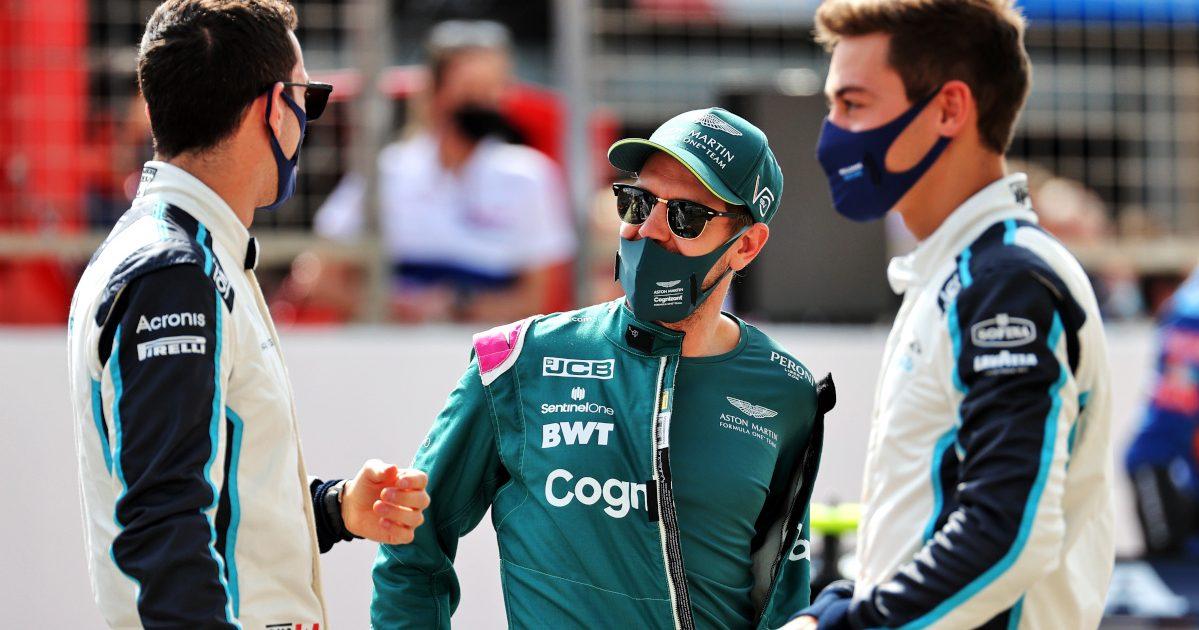 Sebastian Vettel George Russell and Nicholas Latifi