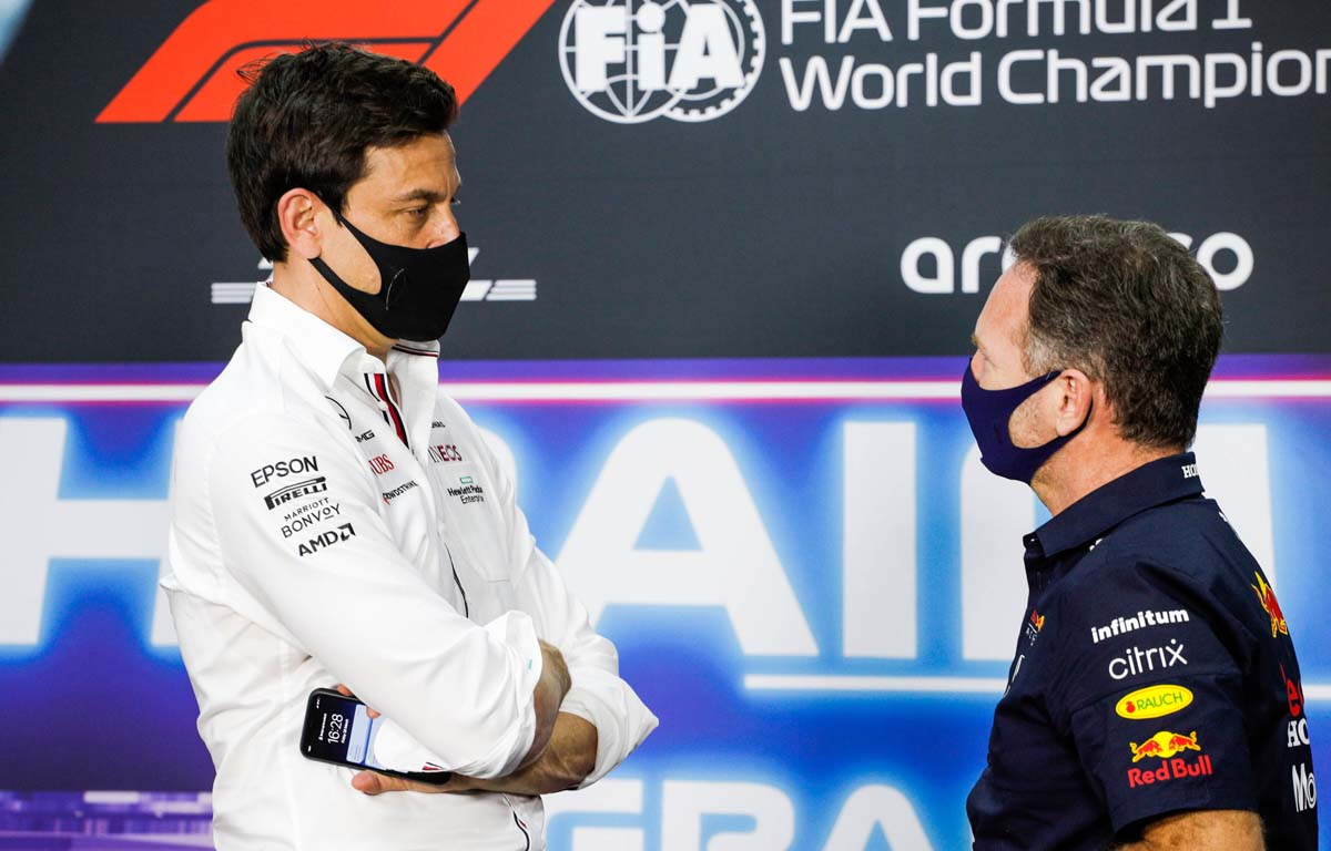 Toto Wolff, Mercedes with Christian Horner, Red Bull