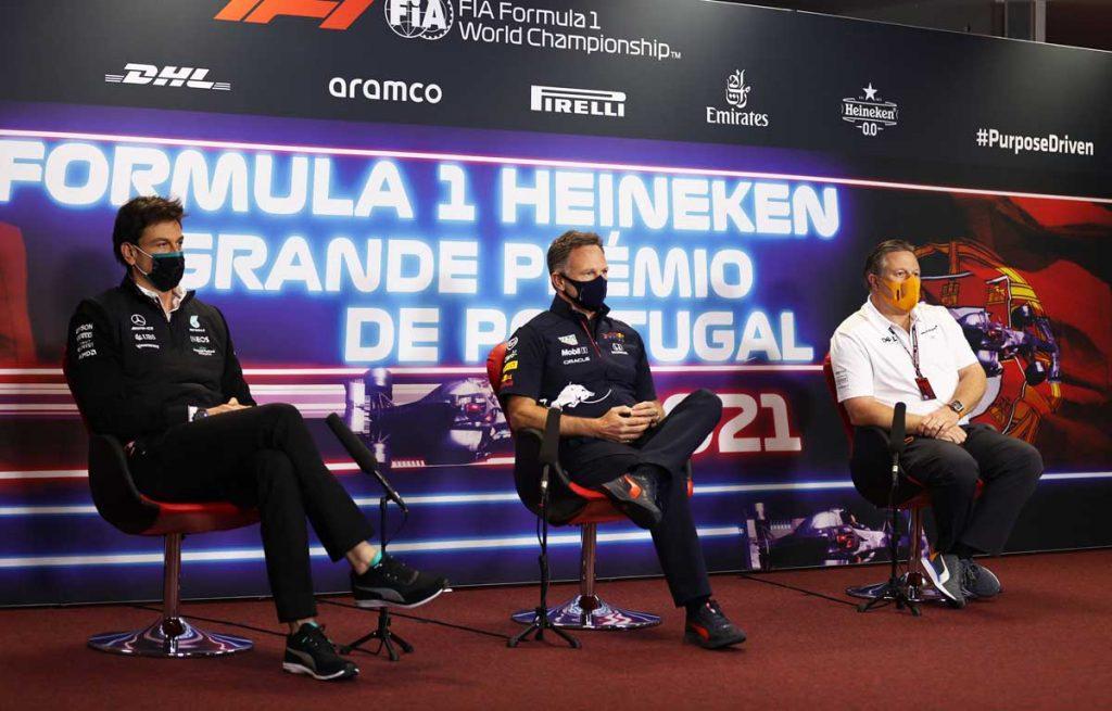 Christian Horner, Red Bull, Toto Wolff, Mercedes, Zak Brown, McLaren