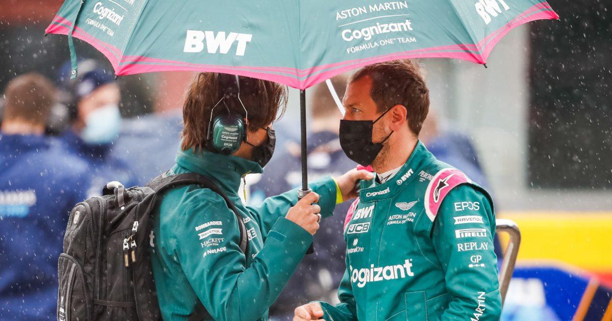 Sebastian Vettel rain