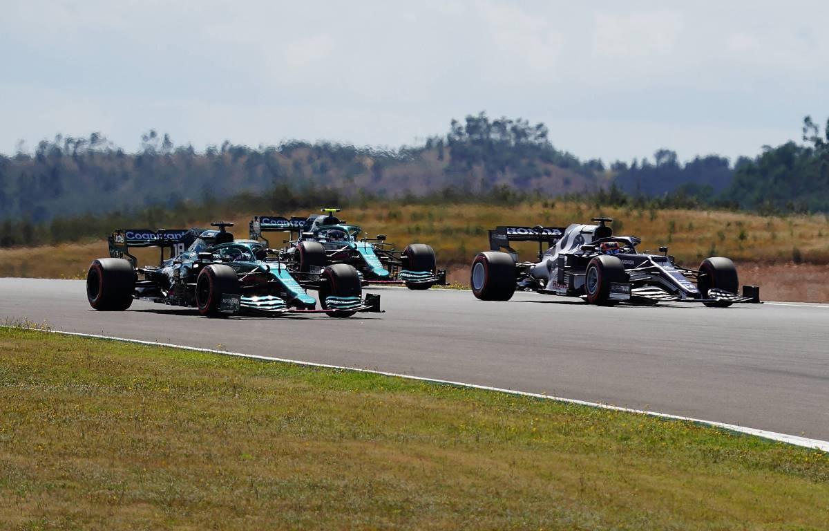Sebastian Vettel Aston Martin, AlphaTauri