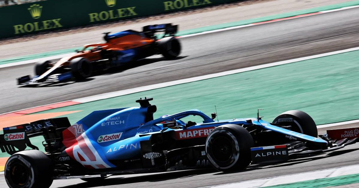 Fernando Alonso, Alpine, during the 2021 Portuguese Grand Prix