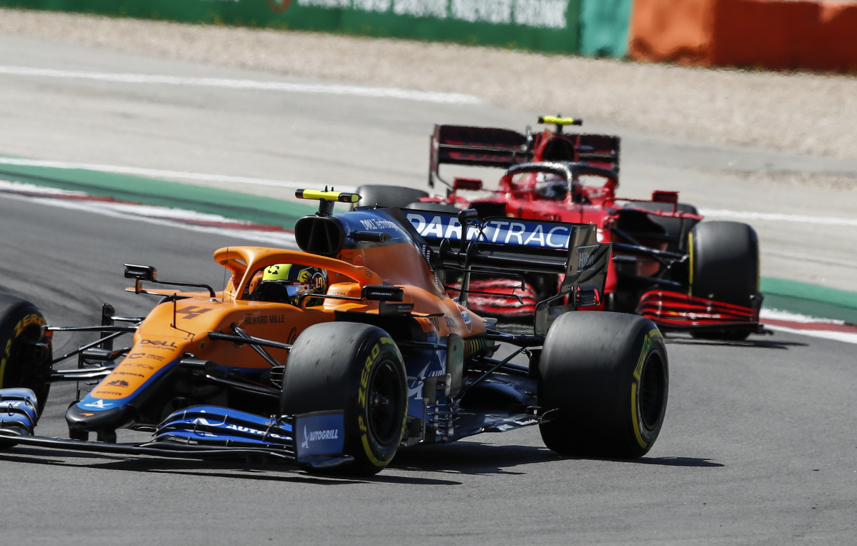 Lando Norris and Charles Leclerc