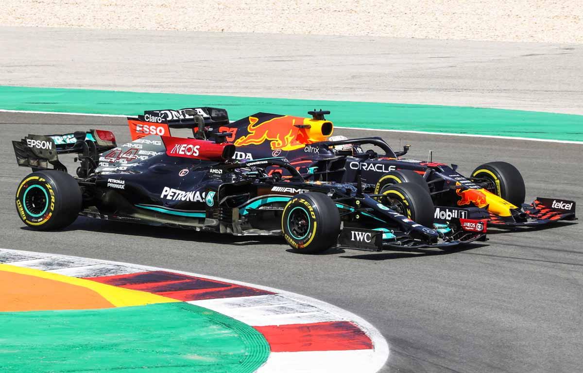 Lewis Hamilton Max Verstappen Portimao 2021 PA