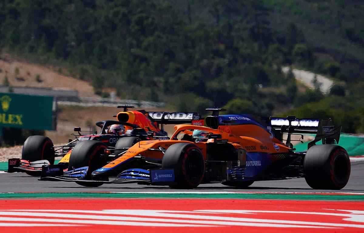 Daniel Ricciardo, Mclaren; Max Verstappen, Red Bull
