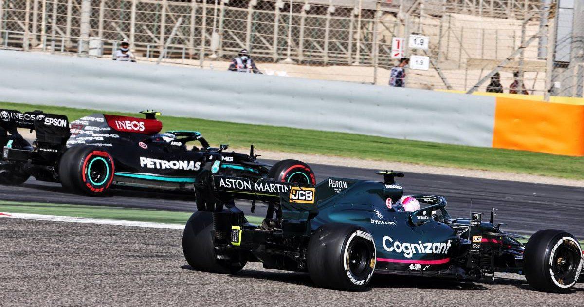 Sebastian Vettel, Aston Martin, Valtteri Bottas Mercedes