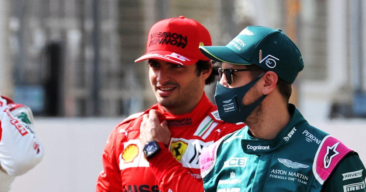 Sebastian Vettel and Carlos Sainz