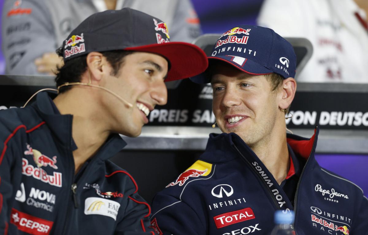 Daniel Ricciardo and Sebastian Vettel 2013