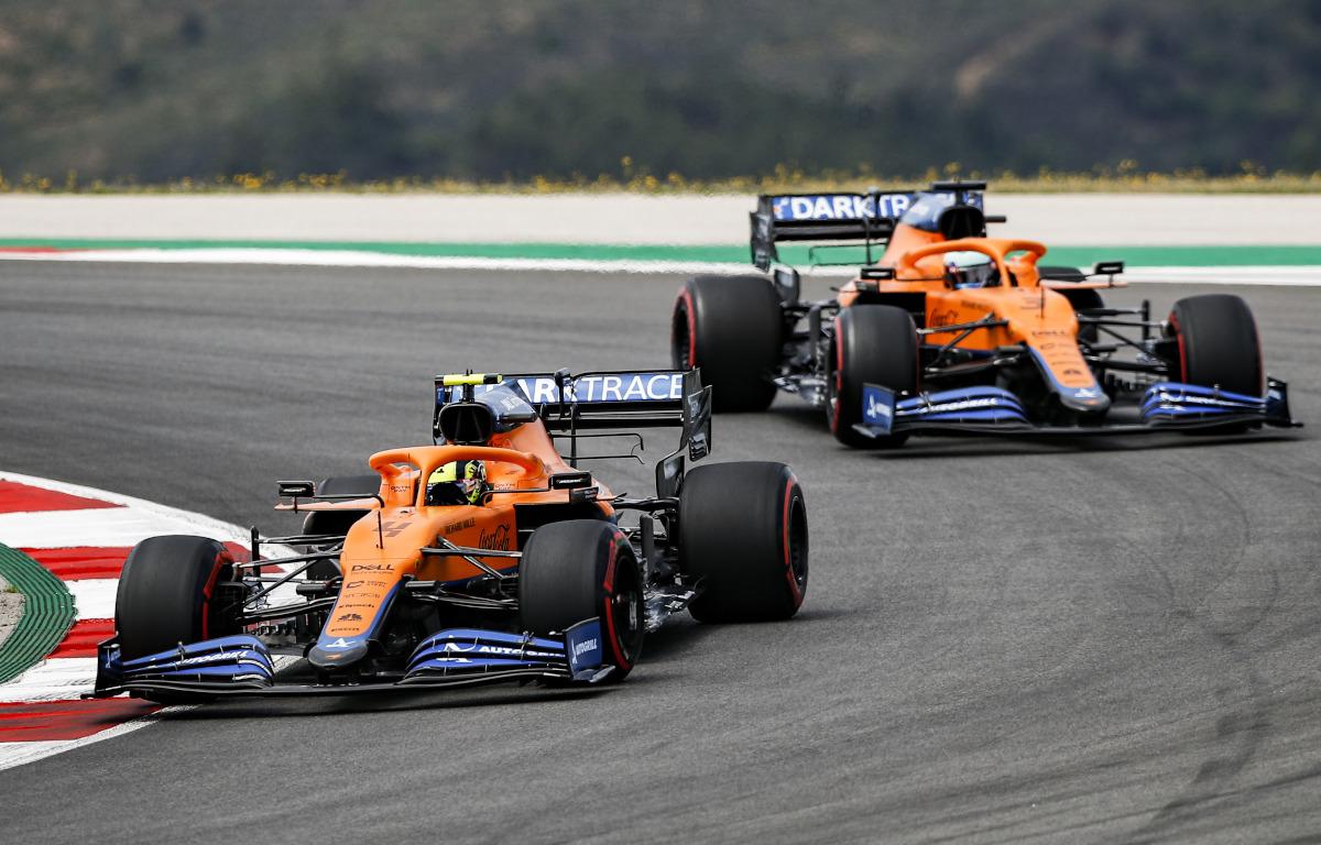 Lando Norris leads Daniel Ricciardo