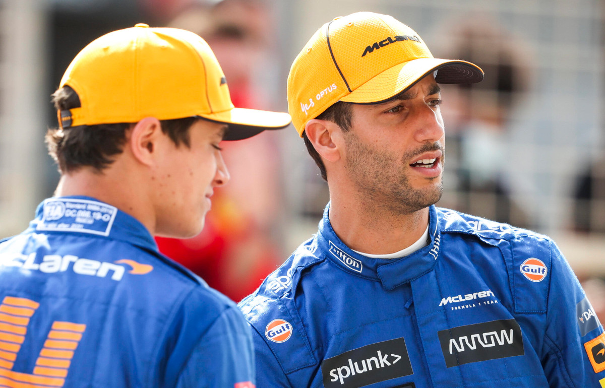Lando Norris and Daniel Ricciardo