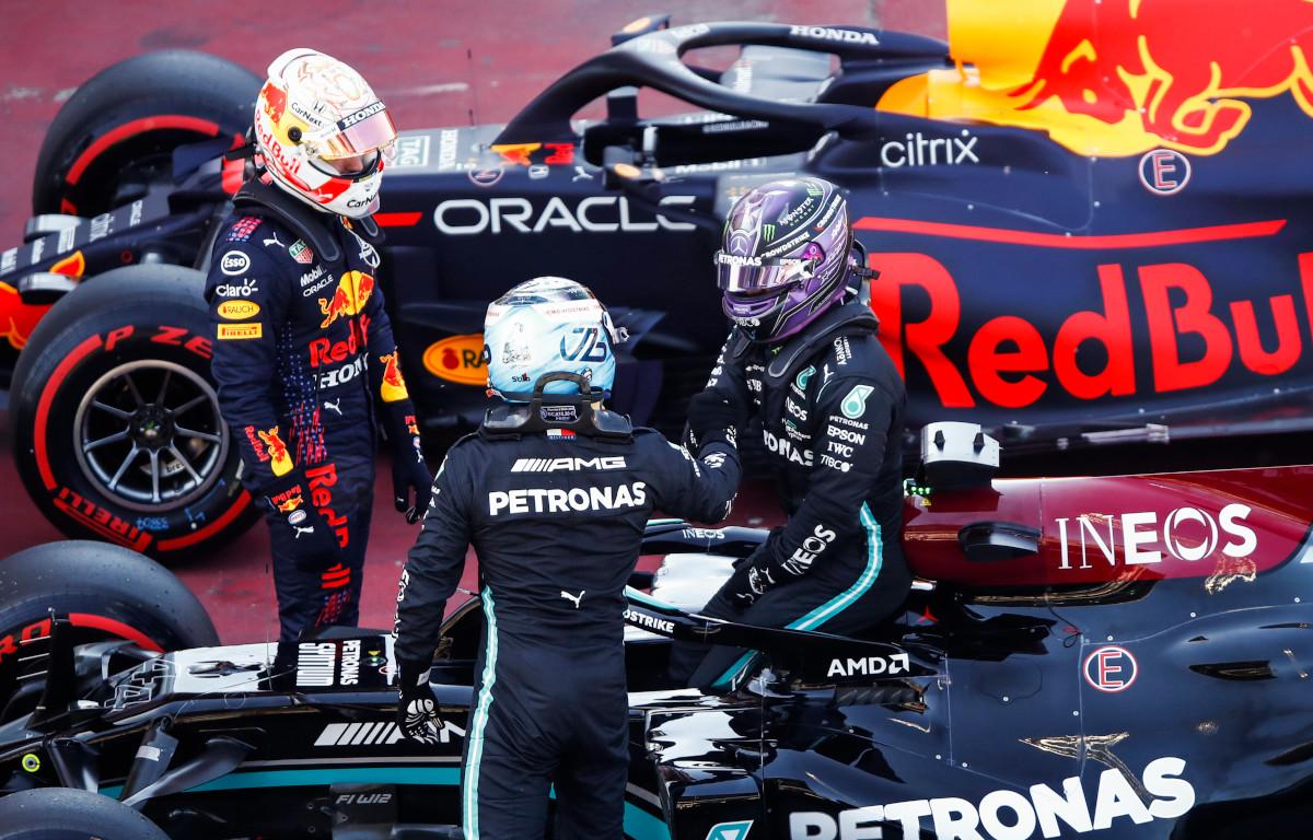 Max Verstappen Lewis Hamilton and Valtteri Bottas