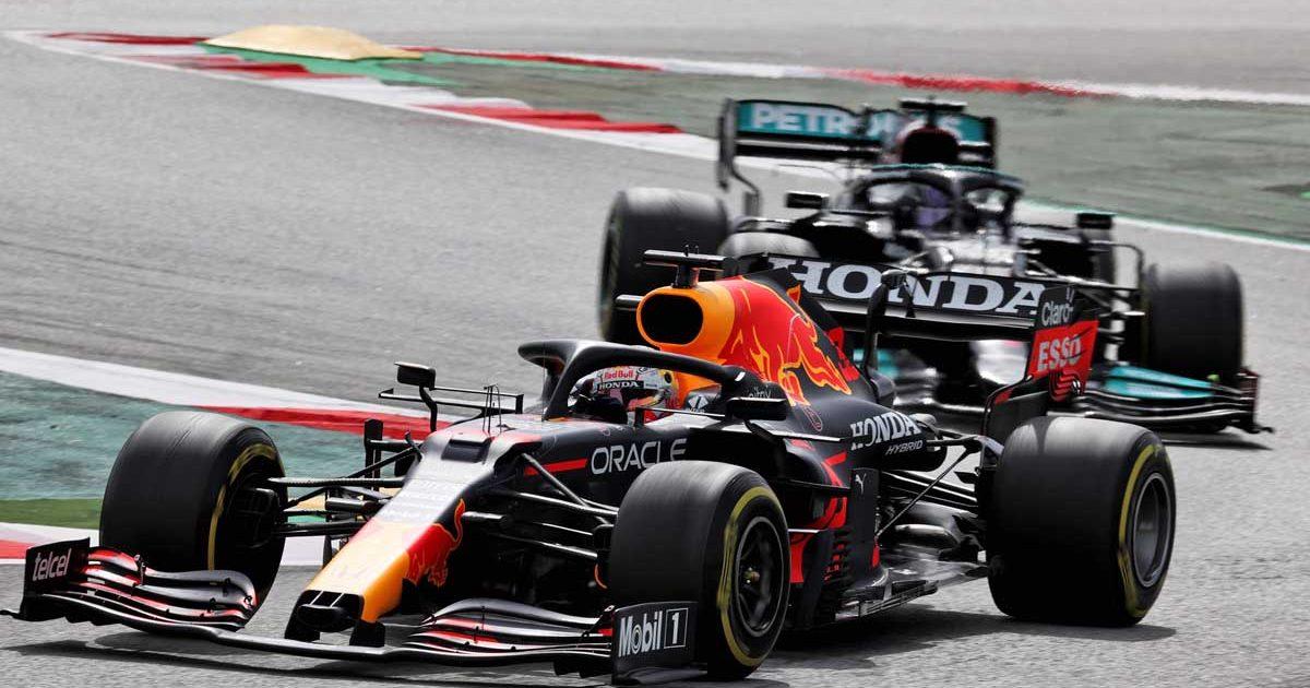 Max Verstappen Lewis Hamilton Spain 2021 PA