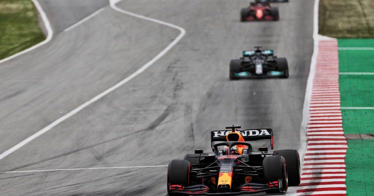 Max Verstappen, Red Bull, leads the 2021 Spanish Grand Prix