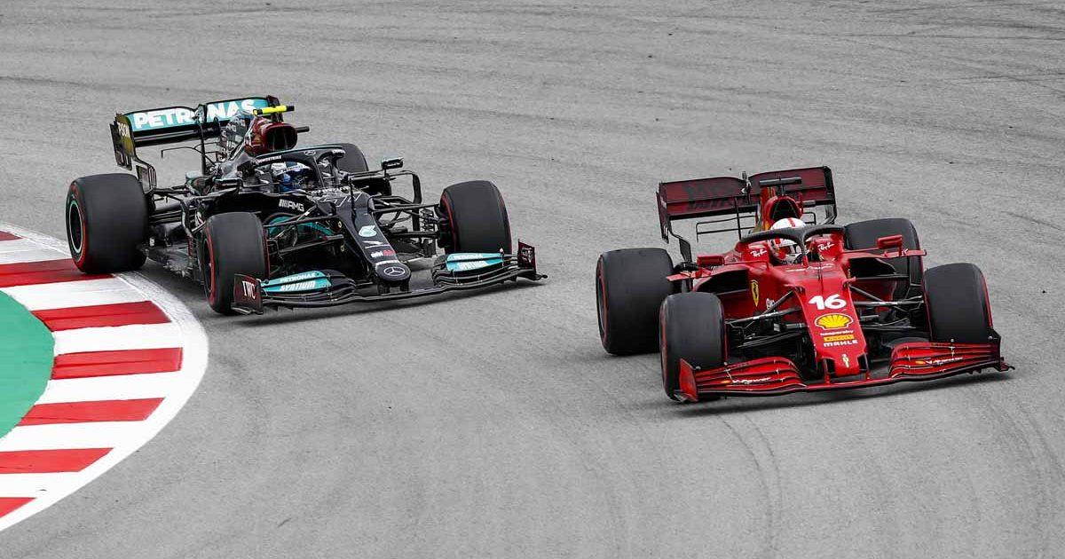 Charles Leclerc Valtteri Bottas Spain 2021 PA
