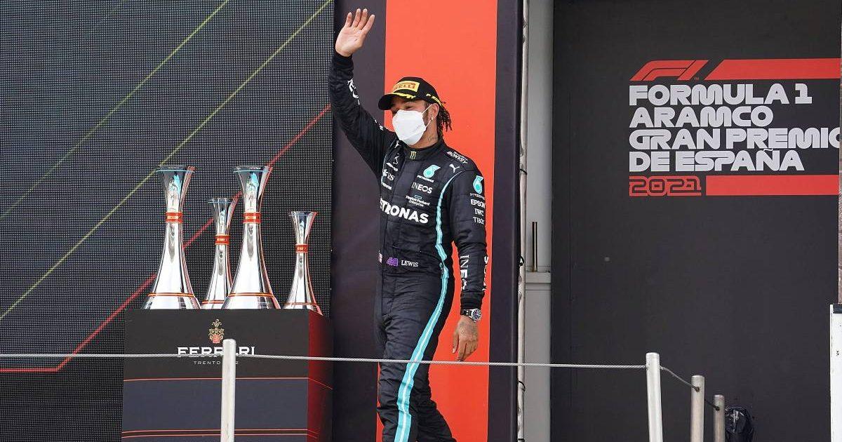 Lewis Hamilton, 2021 Spanish Grand Prix podium