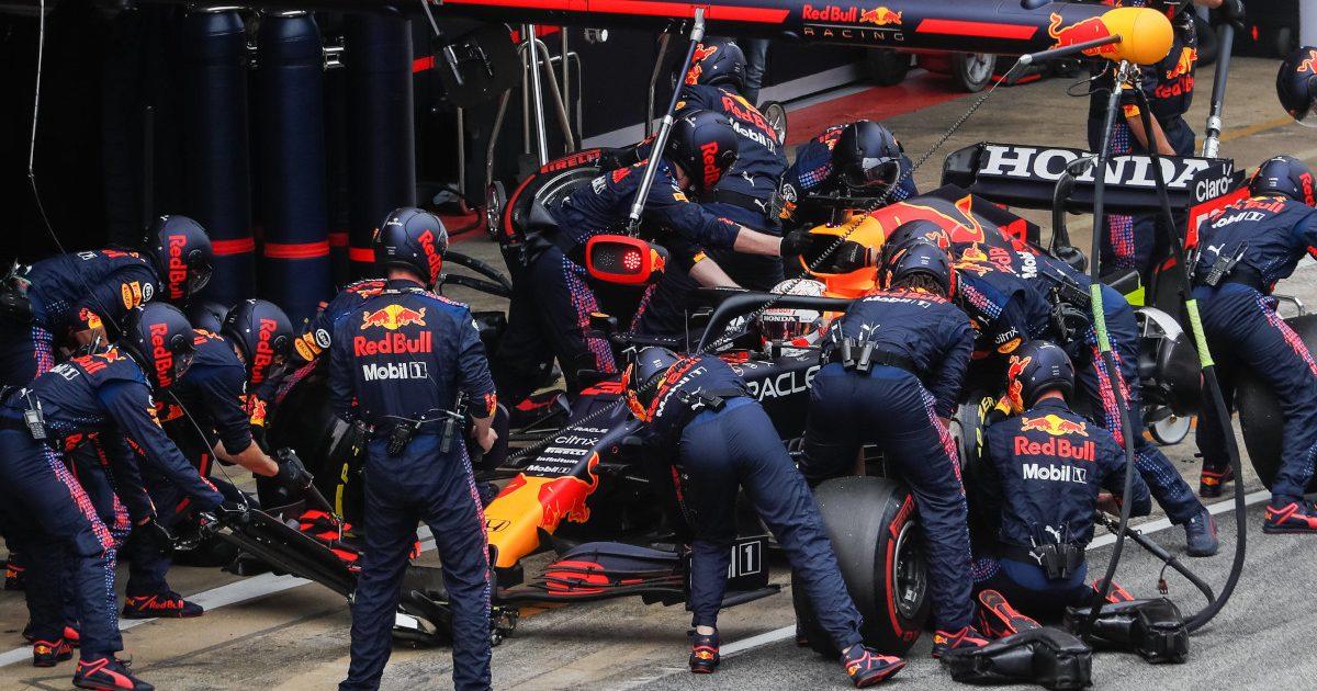 Max Verstappen Red Bull pit stop