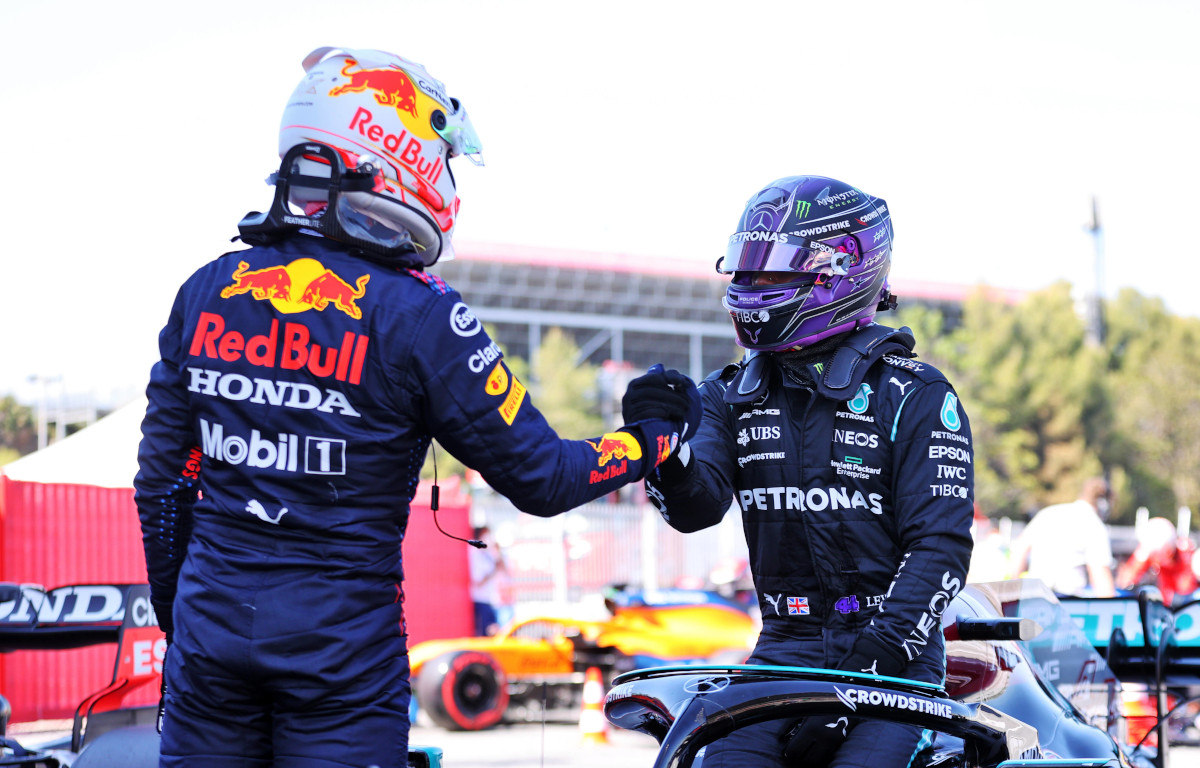 Max Verstappen Lewis Hamilton handshake