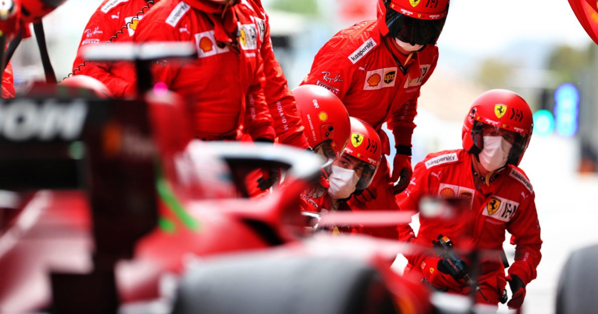 Charles Leclerc Ferrari pit stop