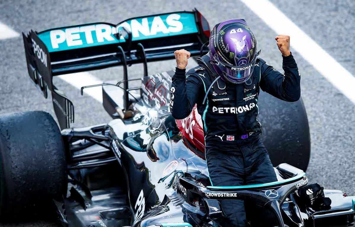 Lewis Hamilton Spain victory 2021 PA
