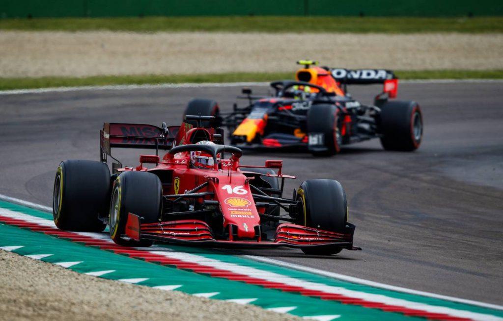 Charles Leclerc, Ferrari, Sergio Perez, Red Bull