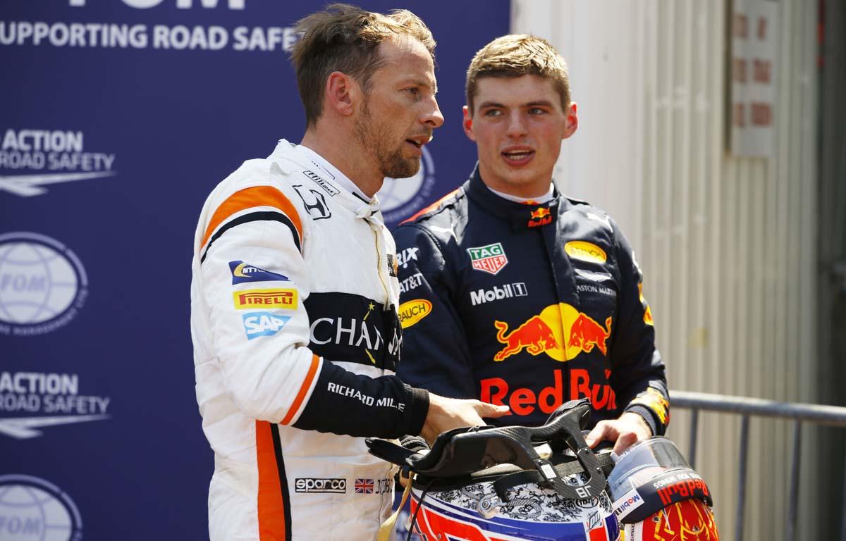Jenson Button Max Verstappen PA
