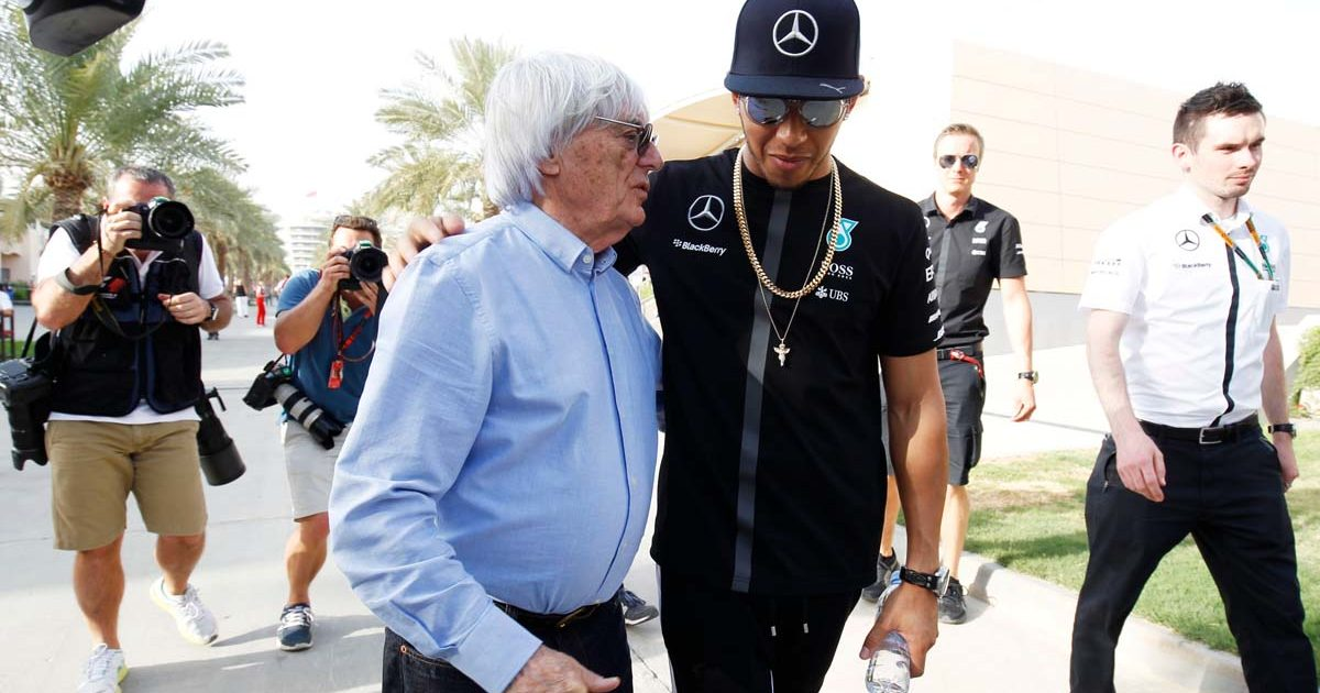 Bernie Ecclestone Lewis Hamilton PA