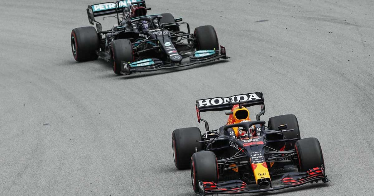 Max Verstappen Lewis Hamilton Red Bull Mercedes PA