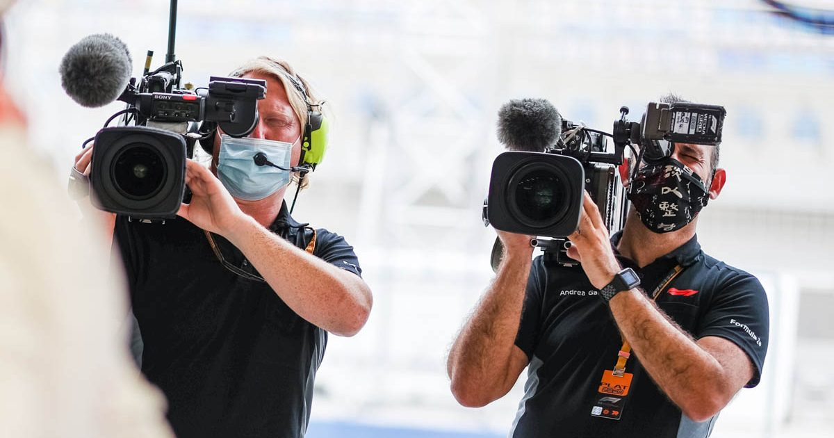Formula 1 camera crew PA