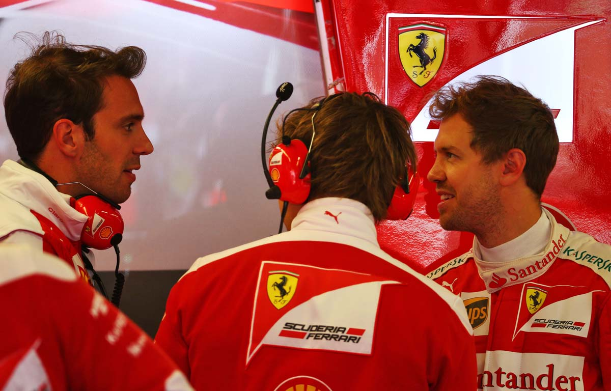 Jean-Eric Vergne Sebastian Vettel Ferrari 2016 PA