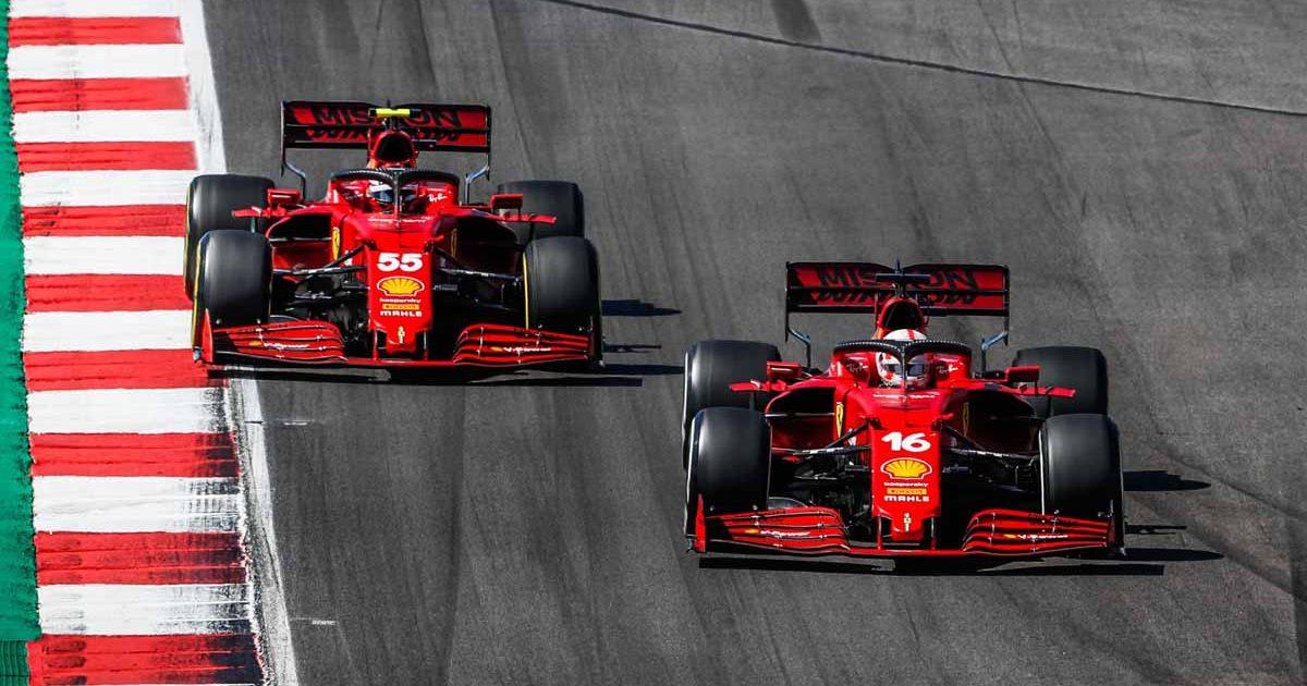 Charles Leclerc, Carlos Sainz, Ferrari PA