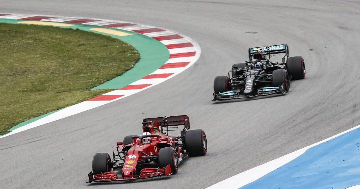 Charles Leclerc, Ferrari, Valtteri Bottas, Mercedes