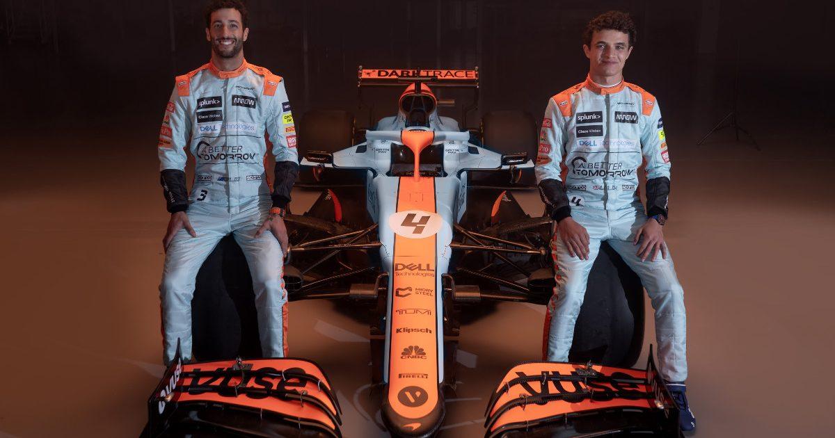 Daniel Ricciardo Lando Norris retro McLaren