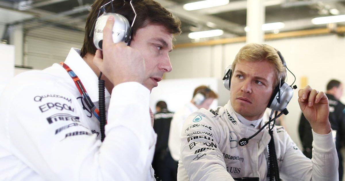 Nico Rosberg Toto Wolff Mercedes