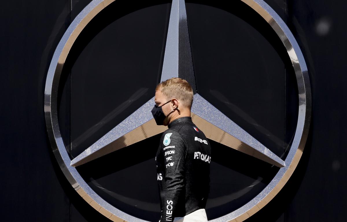 Valtteri Bottas Mercedes logo