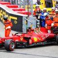 Charles Leclerc's Ferrari after his crash during Monaco Grand Prix qualifying