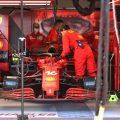Charles Leclerc's Ferrari before Monaco Grand Prix DNS