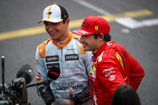 Carlos Sainz Lando Norris McLaren Ferrari