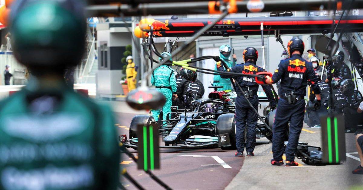 Lewis Hamilton pit-stop during the Monaco Grand Prix