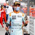 Lando Norris Monaco 2021 trophy PA