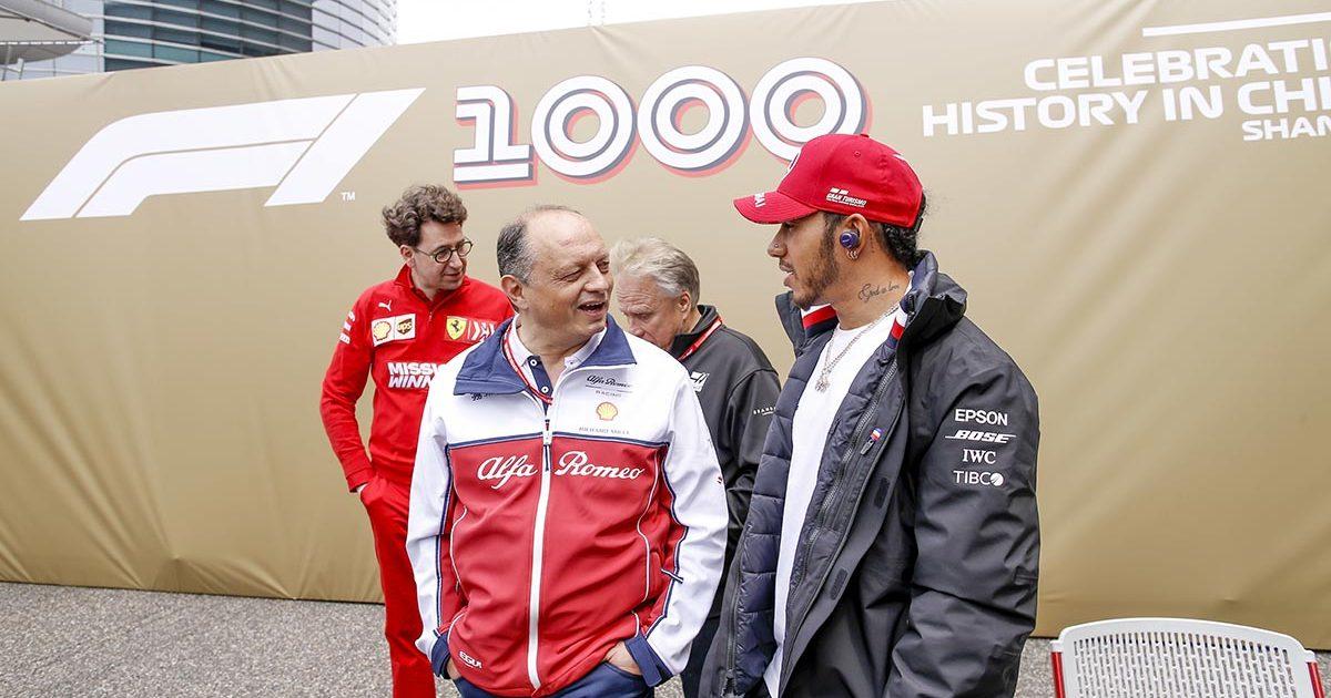 Frederic Vasseur Lewis Hamilton