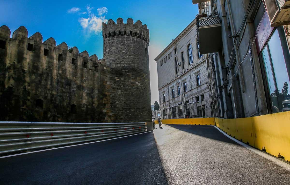Baku City Circuit castle, Azerbaijan Grand Prix