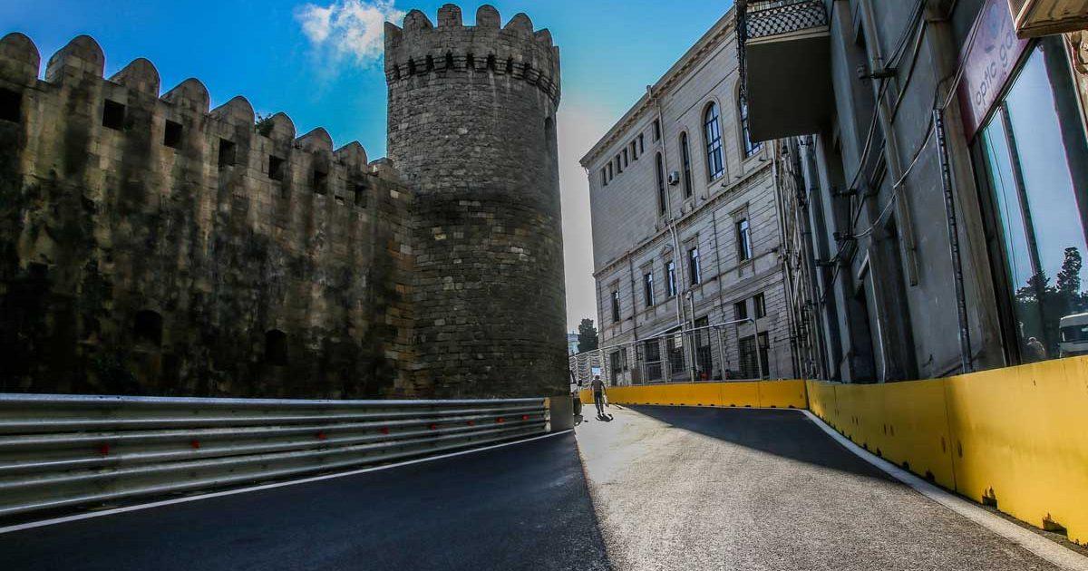 Baku City Circuit castle Azerbaijan Grand Prix PA