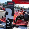Charles Leclerc's Ferrari after 2021 Azerbaijan Grand Prix qualifying