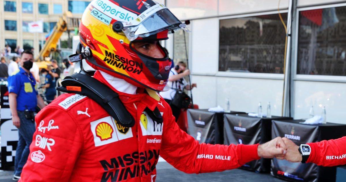 Carlos Sainz Ferrari Azerbaijan GP 2021, Ferrari