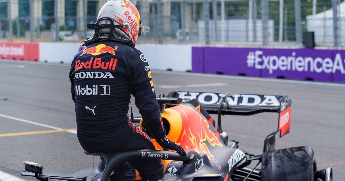 Max Verstappen after his crash during the 2021 Azerbaijan Grand Prix