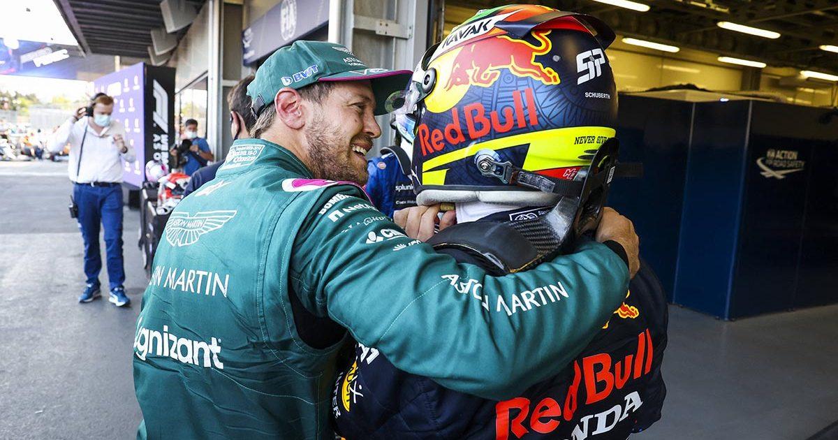 Sebastian Vettel Sergio Perez Aston Martin Red Bull