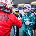 Sebastian Vettel Charles Leclerc Ferrari Aston Martin
