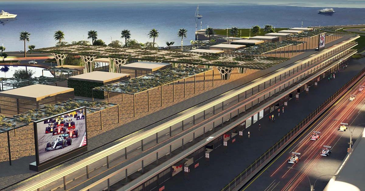 First images of the Jeddah Street Circuit. June 2021.