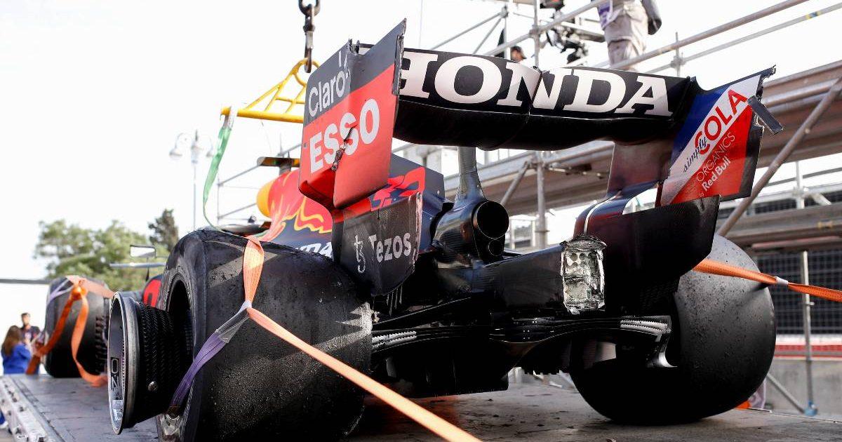 Max Verstappen Baku Pirelli tyre failure