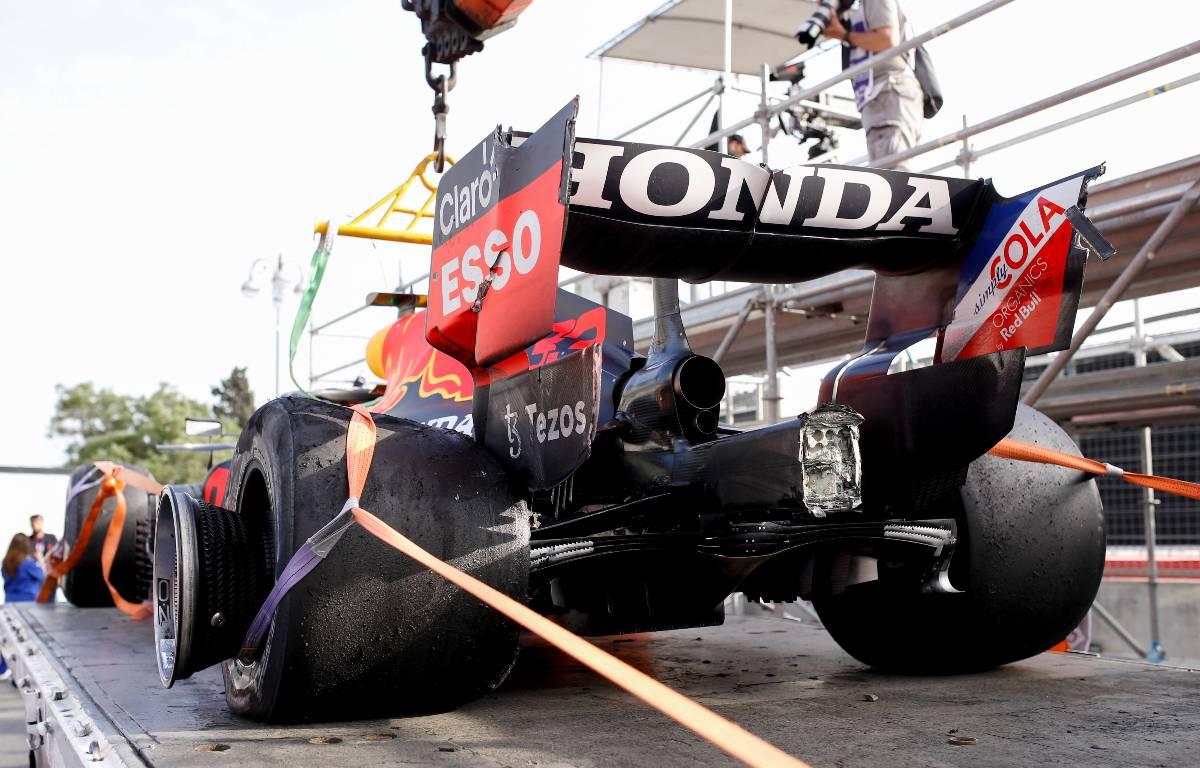Max Verstappen Baku tyre failure